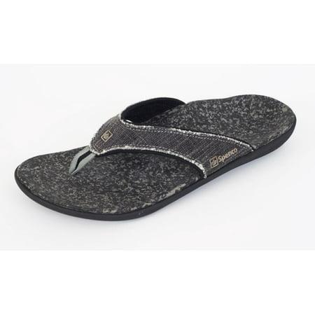 Spenco Yumi Men's Orthotic Flip Flops - Black