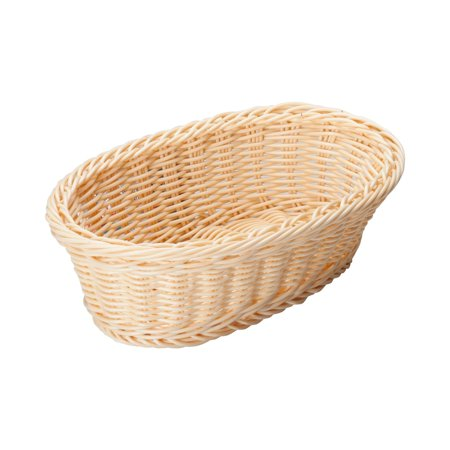 Brown Oval Basket - Brown Oval Poly Woven Baskets, 9-1/4