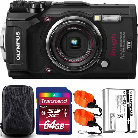 Olympus Stylus Tough TG-5 Waterproof Digital Camera Black With 64GB PRO Kit