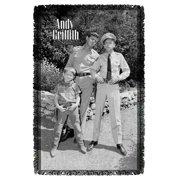 Andy Griffith Lawmen Woven Throw White 48X80