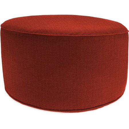 Enjoyable Jordan Manufacturing Round Outdoor Patio Pouf Ottoman Husk Texture Brick Squirreltailoven Fun Painted Chair Ideas Images Squirreltailovenorg