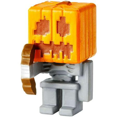 Skeleton Figure (Minecraft Obsidian Series 4 Skeleton with Pumpkin Helmet 1 Mini Figure)