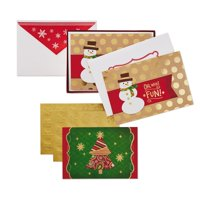 Hallmark Christmas Boxed Card Assortment, Snowman and Christmas Tree (40 Cards with Envelopes)