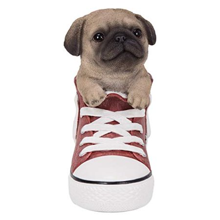 All Star Animal Pug Dog in The Shoes Decorative Resin Figurine - Decorative Arch