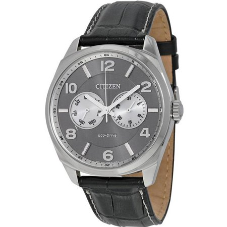 Citizen Eco-Drive Leather Men's Watch, AO9020-17H