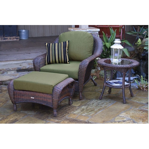 Tortuga Lexington Chair with Ottoman and Side Table