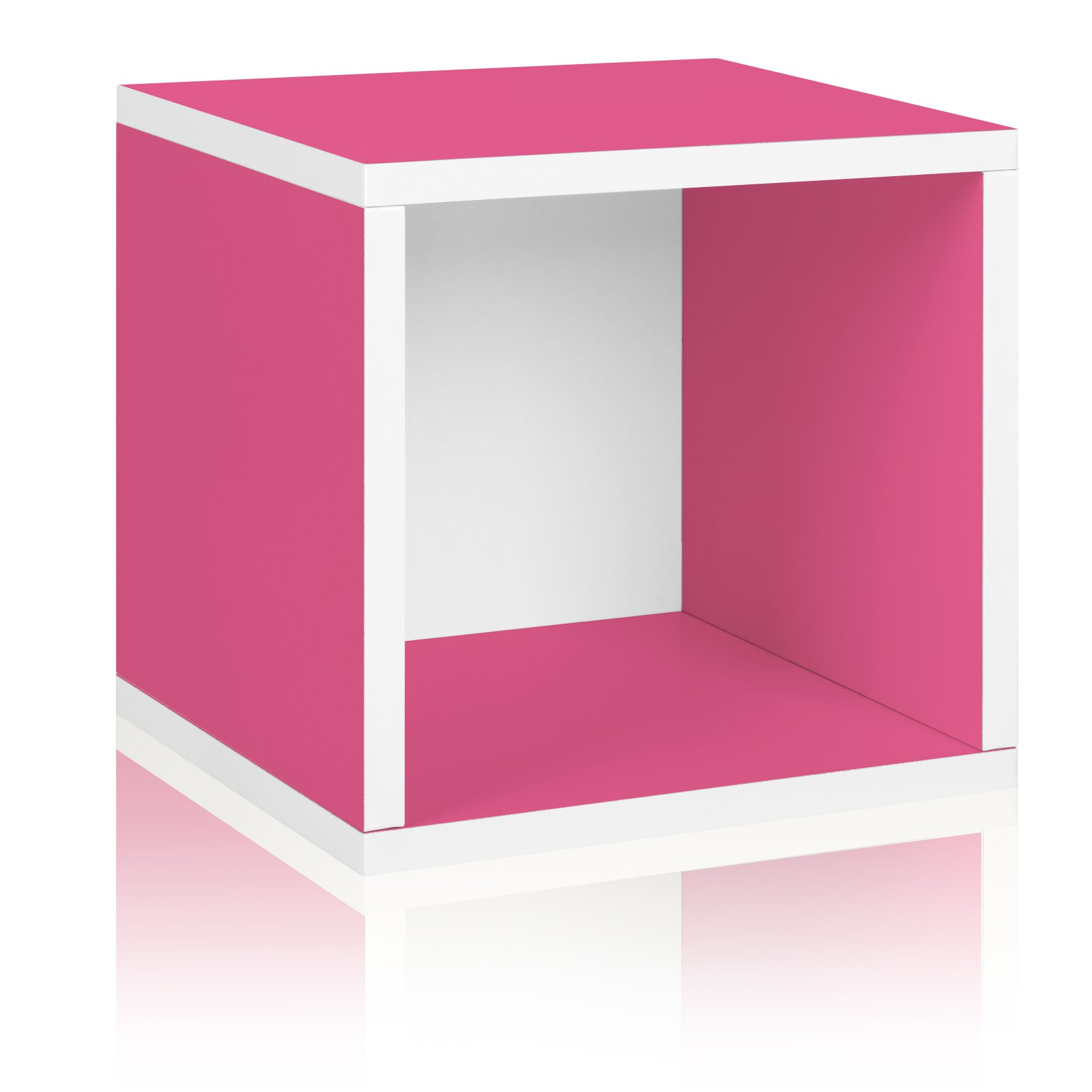 Way Basics Eco Stackable Storage Cube and Cubby Organizer, Pink
