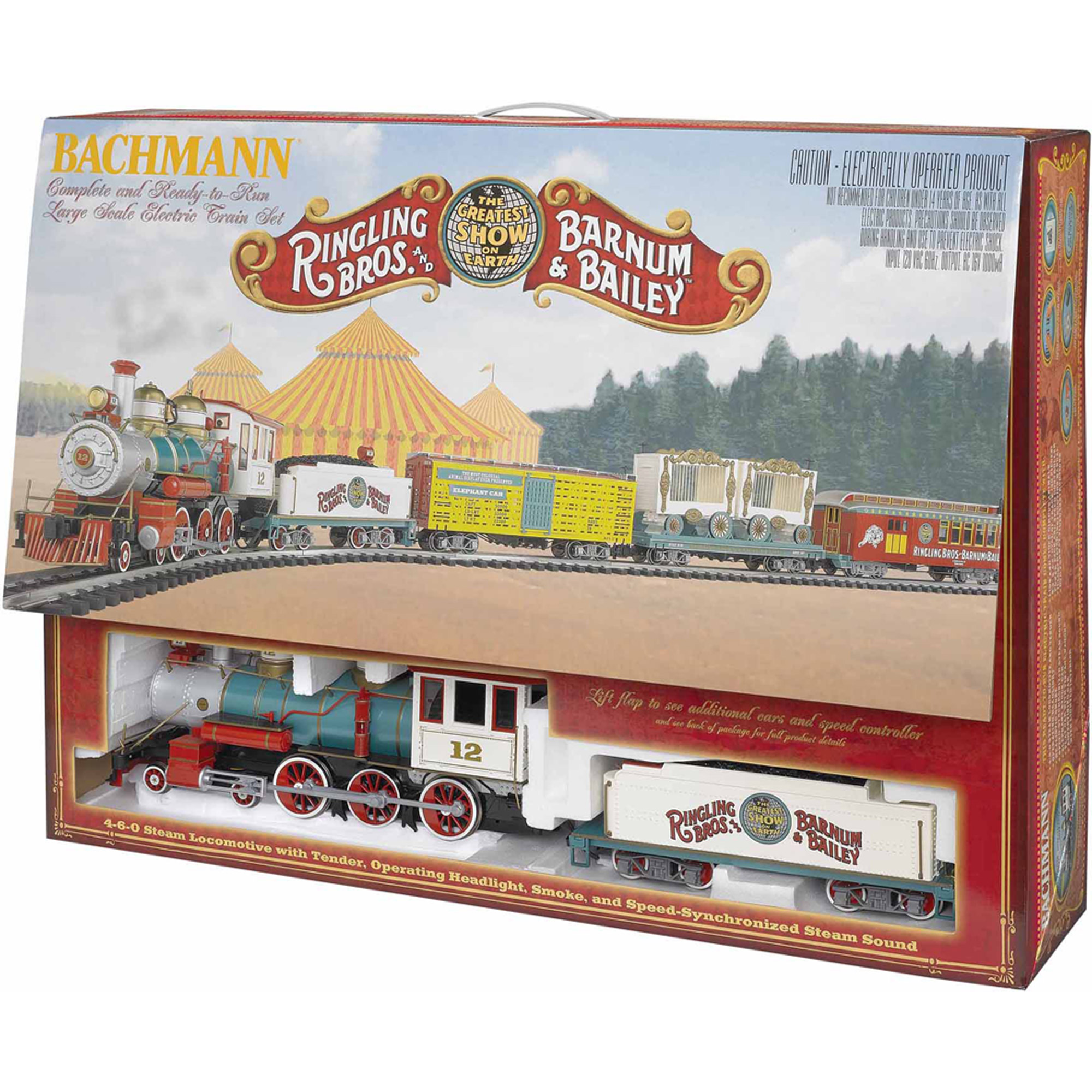 "Bachmann Trains Ringling Bros. And Barnum and Bailey , Large ""G"" Scale Ready-to-Run Electric Train Set"