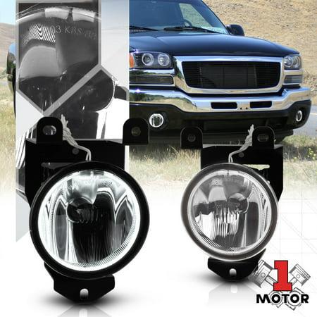 Clear Lens Halo Projector Bumper Fog Light Lamp for 01-07 Sierra/Yukon Denali 93 94 95 96 97 98 99 00 01 02 03 04 05 06