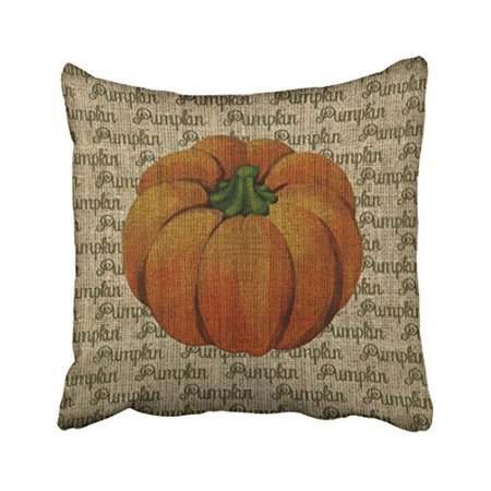 WinHome Decorative Pillowcases Halloween Vintage Pumpkin With Pumpkin Text Cushion Cushion Cover Case Sofa 18x18 Inches Two Side