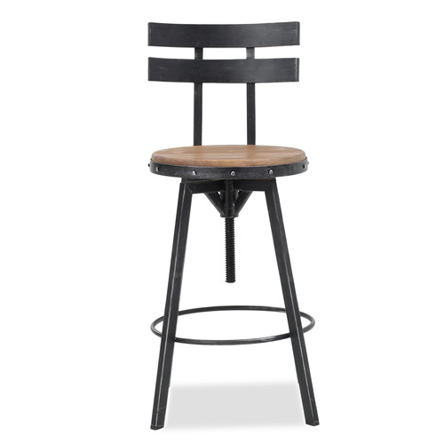 17 Stories Sylvania Adjustable Height Swivel Bar Stool