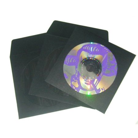 100 black paper cd sleeves with window flap paper for 100 paper cd sleeves with window flap