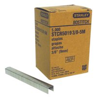 Bostitch PowerCrown 3/8 in. L x 7/16 in. W Steel Wide Crown Staples 5000 pk