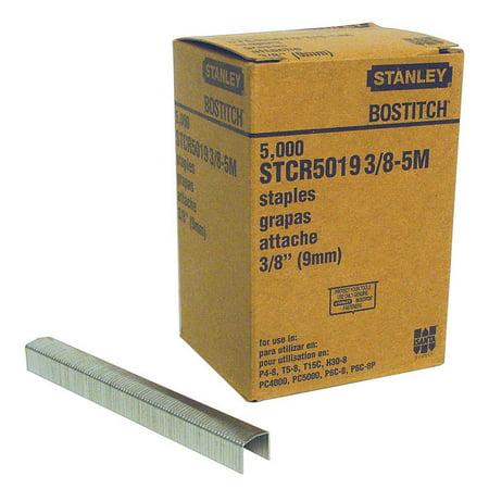 Bostitch PowerCrown 3/8 in. L x 7/16 in. W Steel Wide Crown Staples 5000 pk 0.5' Medium Crown Staples