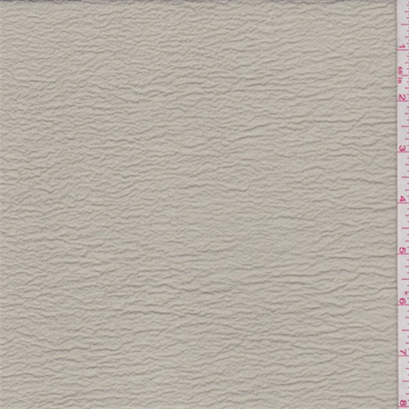 Light Chai Tan Shimmer Crinkled Crepe, Fabric Sold By the Yard