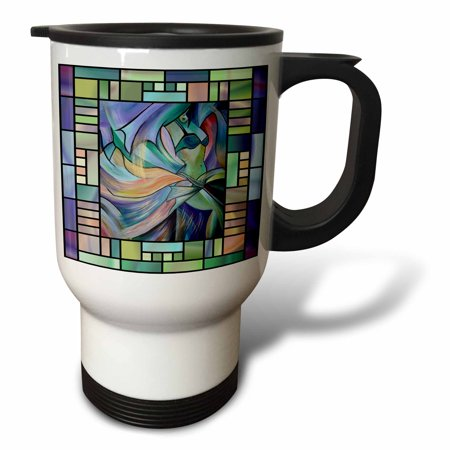 3dRose Art deco Dancer - dance, dancing, belly dance, bellydance, oriental dance, middle eastern dance, , Travel Mug, 14oz, Stainless Steel