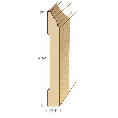 Moldings Online 0.44'' x 2.89'' x 78'' Bamboo Wall Base