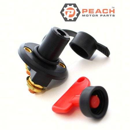 Peach Motor Parts PM-BATTERY-SWITCH-1B  PM-BATTERY-SWITCH-1B Switch, Boat Battery Isolation (Single On-Off) w/ Weatherproof Cap; Replaces Trac®: T10152 American Motors Distributor Cap