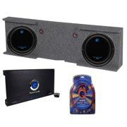 """GMC Chevy Crew Cab 07-13 Box + 2) Planet Audio 10"""" Subs + 2 Channel Amp + Wiring"""