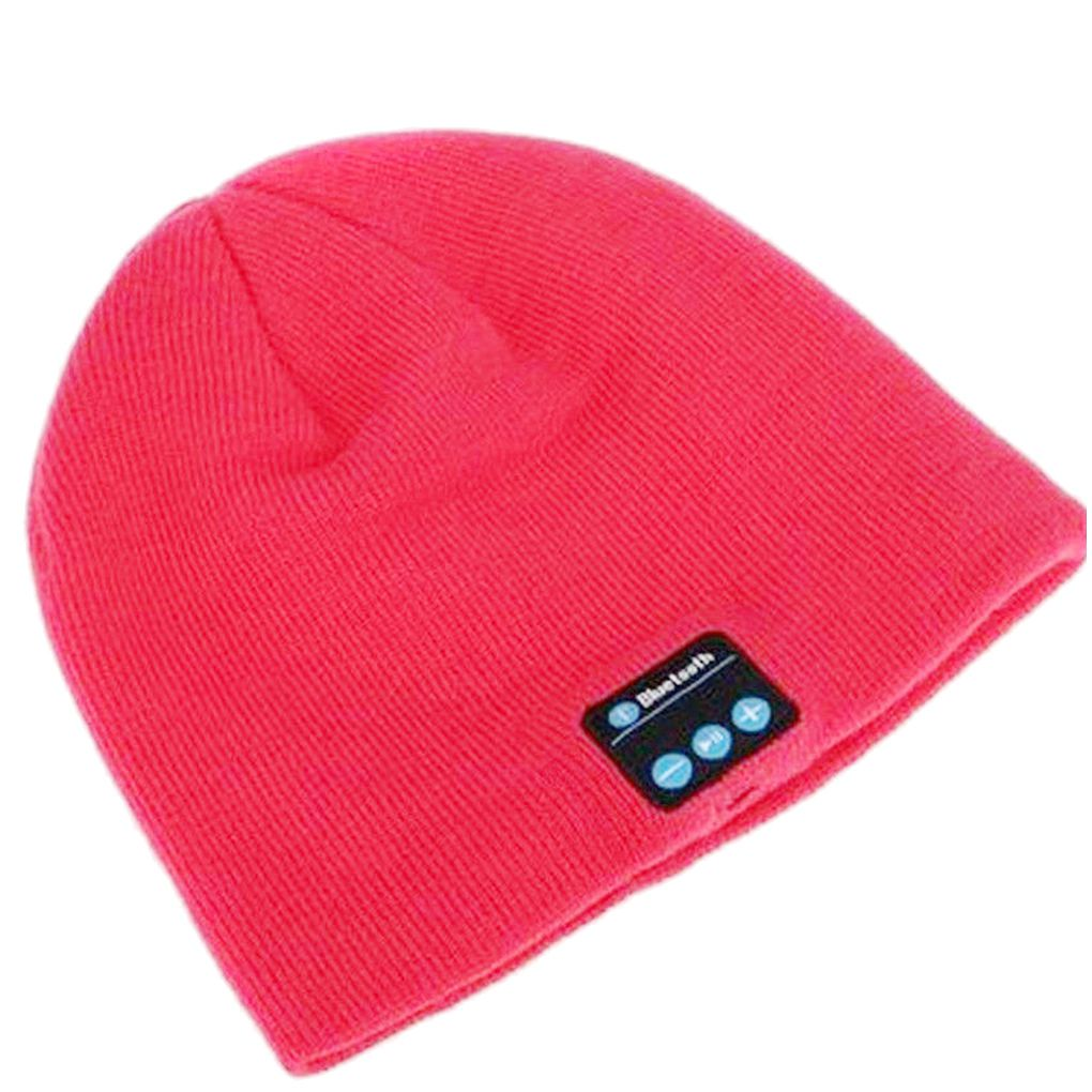 Wireless Headset Smart Cap Bluetooth Soft Warm Beanie Hat Headphone Speaker Mic Winter Hat for Outdoor Sport