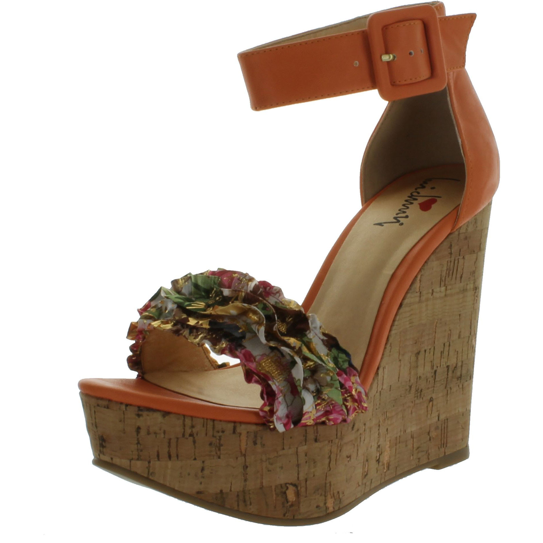 Luichiny Womens Flor Entine Wedge Sandals by Luichiny