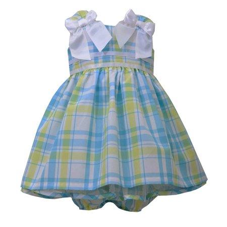 Bonnie Jean Plaid Dress - Bonnie Jean Baby-Girls Plaid White Bow Dress 6-9 months