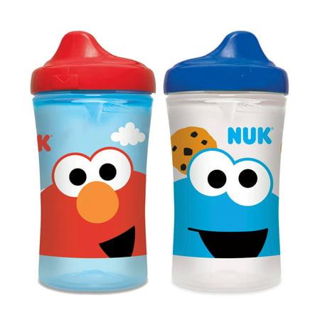 NUK Sesame Street Hard Spout Cup, 10oz, 2 pack (Sesame Street Plastic Cups)