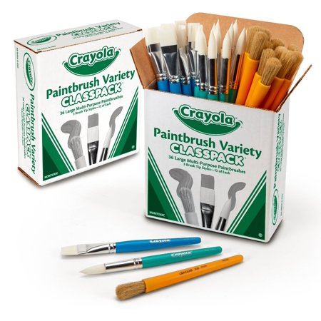 Crayola Bulk Pack Paint Brush Classpack 36 Count Variety