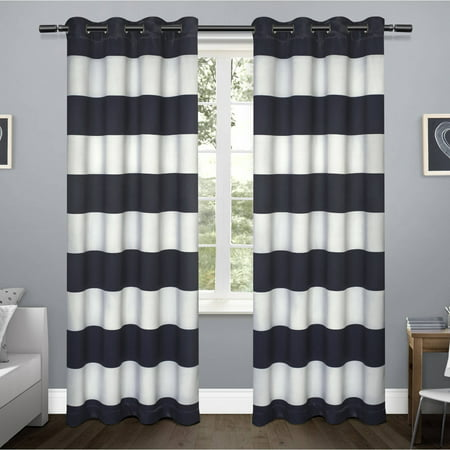 Exclusive Home Rugby Sateen Window Curtain Panel Pair With