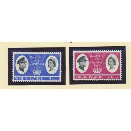 British Virgin Islands Scott #167 To 168 - Royal Visit, British Carribean Common Design Issue From 1966 - Collectible Postage Stamps