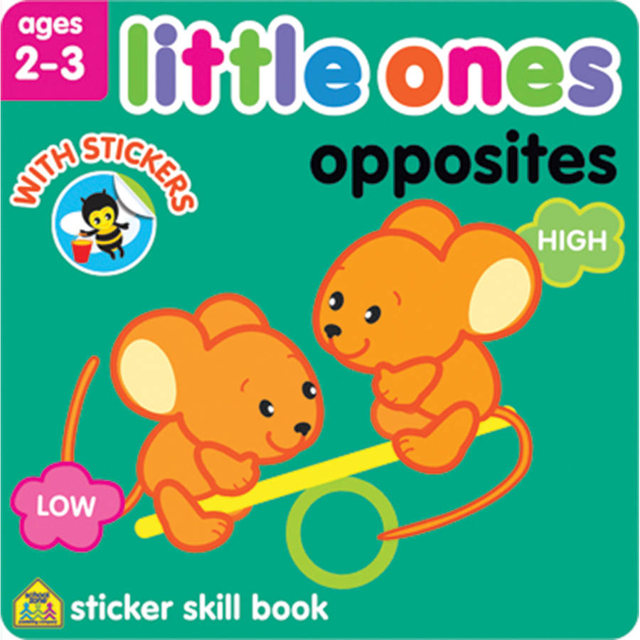Little Ones Sticker Skill Book, Opposites