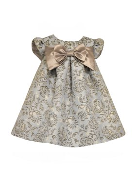 ef0f5943402a Product Image Bonnie Jean Baby Girls Metallic Toile Brocade Empire Dress 0-3  months