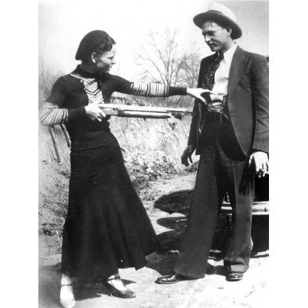 1933 Fine Art (Bonnie And Clyde, 1933 Print Wall Art)