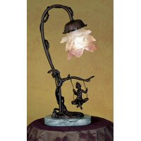 Cherub On Swing Accent Lamp