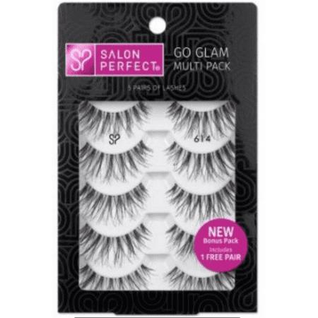 Salon Perfect Eyelashes  614 Black  5 Pairs