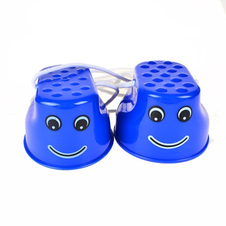 1 Pair Of Child Thickened Plastic Smile Stilts Balance