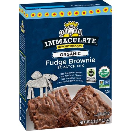Mix Baking Mixes - Immaculate Baking Brownie Mix, Organic Fudge Brownie Scratch Mix, 18.3 Ounce