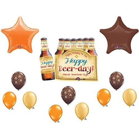 6-PACK HAPPY BEER DAY BIRTHDAY PARTY Balloons Decorations Supplies by Anagram