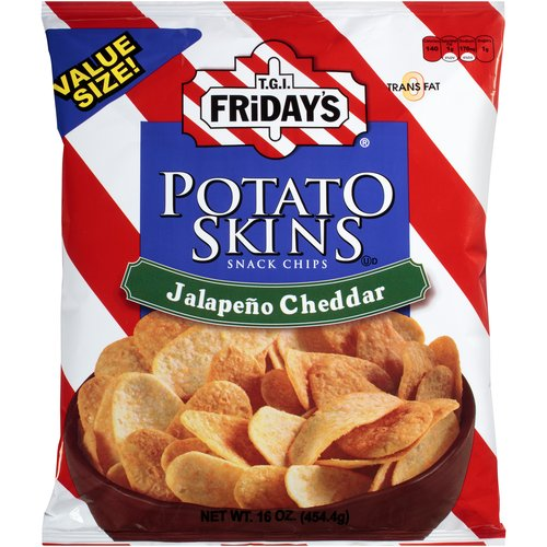 T.G.I. Friday's Jalapeno Cheddar Potato Skins Snack Chips, 16 oz