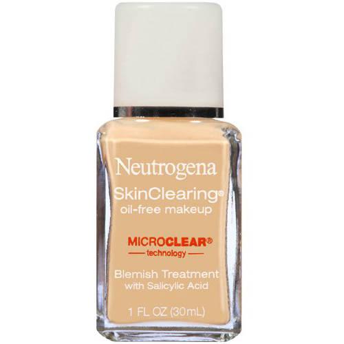 Johnson & Johnson Neutrogena Skinclearing Makeup, 10 Classic Ivory, 1 Fl. Oz
