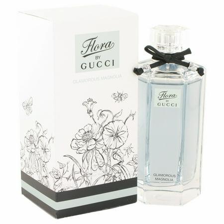 Gucci Flora Glamorous Magnolia Eau De Toilette Spray for Women 3.3 oz (Glamorous Fragrance)