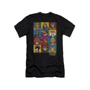 Masters Of The Universe Animated TV Series Character Blocks Adult Slim T-Shirt