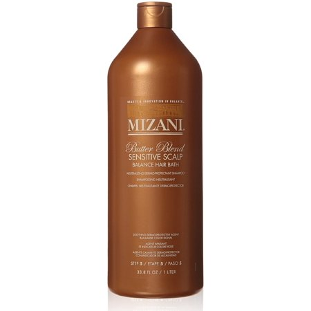 Butter Blend Balance Hair Bath For Sensitive Scalp By Mizani, 33.8 (Best Lye Relaxer For Sensitive Scalp)