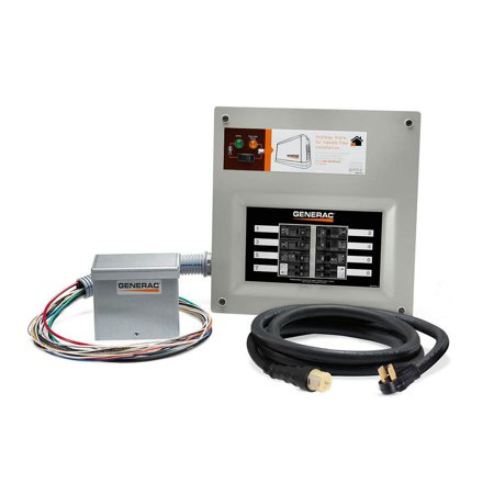Generac Upgradeable 50 Amp Manual Transfer Switch Kit for 8 to 10 Circuits - image 1 of 4