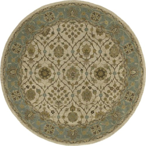 "Kaleen Rugs Tara Rounds Collection 7710-01 Ivory Hand Tufted 11'9"" ROUND Rug"
