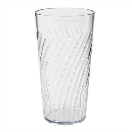 Plastic Reusable Tahiti Tumblers 20 oz 3.44 x 6.5 Beverage Clear SAN/Case of -