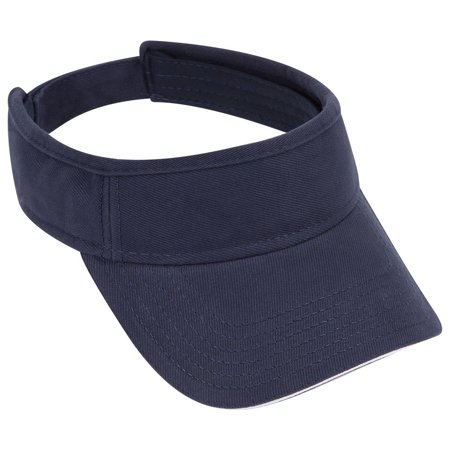 otto brushed bull denim sandwich visor sun visor - blk/blk/red
