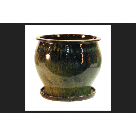 2/Pack Lee'S Pottery Db10021-08I Planter Glazed 8