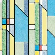 Brewster Geometrics Peel and Stick Window Film
