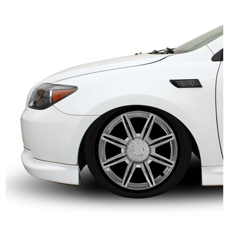 16 Inch 6 Spoke - Pilot Automotive  4-piece Set 16-inch Chrome Wheel Cover 8 Spoke with Black Inserts